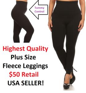 e7ad823cf Sofra + Size Yoga Fleece Leggings High Waist Thick Winter Warmer ...