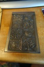 ANTIQUE SOLID BRONZE TIFFANY STUDIOS # 1021 BOOKMARK TREE OF LIFE NOTEPAD HOLDER
