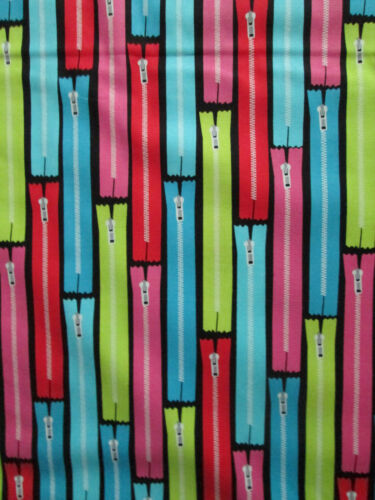 ZIPPERS SEWING ITEMS COLORS COTTON FABRIC BTHY