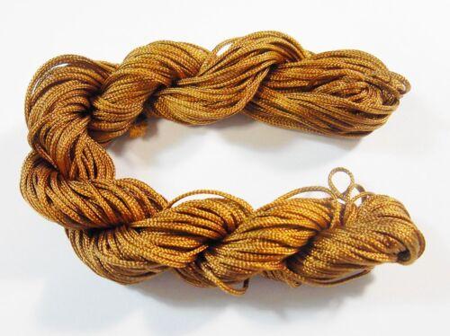 30 metros de hilo macramé nylon hilos cordel 1mm Shamballa banda marrón Best c71a