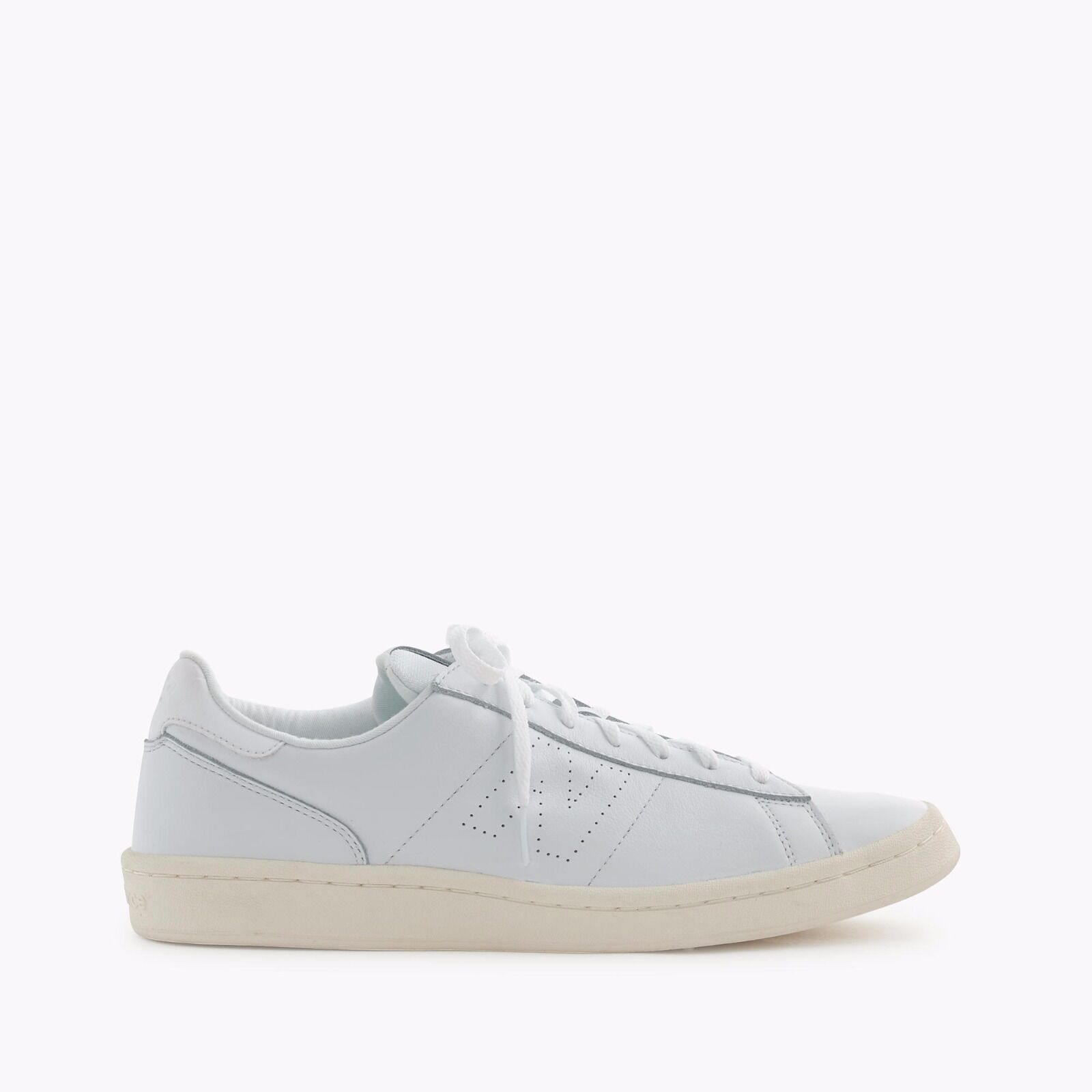 New Balance / Ledersneaker / weiß  / pure white / leather sneaker / 42,5 / 9