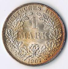 DR DEUTSCHES REICH 1 MARK REICHSMARK 1907 A JAEGER J. 17 SILBER ERHALTUNG