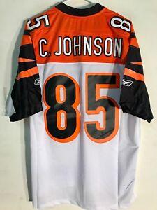 dc637363 Details about Reebok Premier NFL Jersey Cincinnati Bengals Chad Johnson  White sz 2X