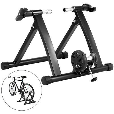 Bike Trainer Stand Fluid Resistance Bicycle Indoor Exercise Training Black