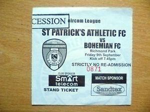 Tickets-Eircom-League-ST-PATRICK-039-S-ATHLETIC-v-BOHEMIAN-9-Sept-2005