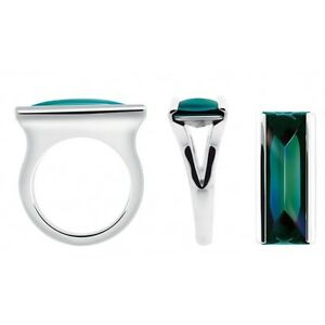 Baccarat-Insomnight-Sterling-Silver-Mini-Ring-Green-Mordore-450-Size-55