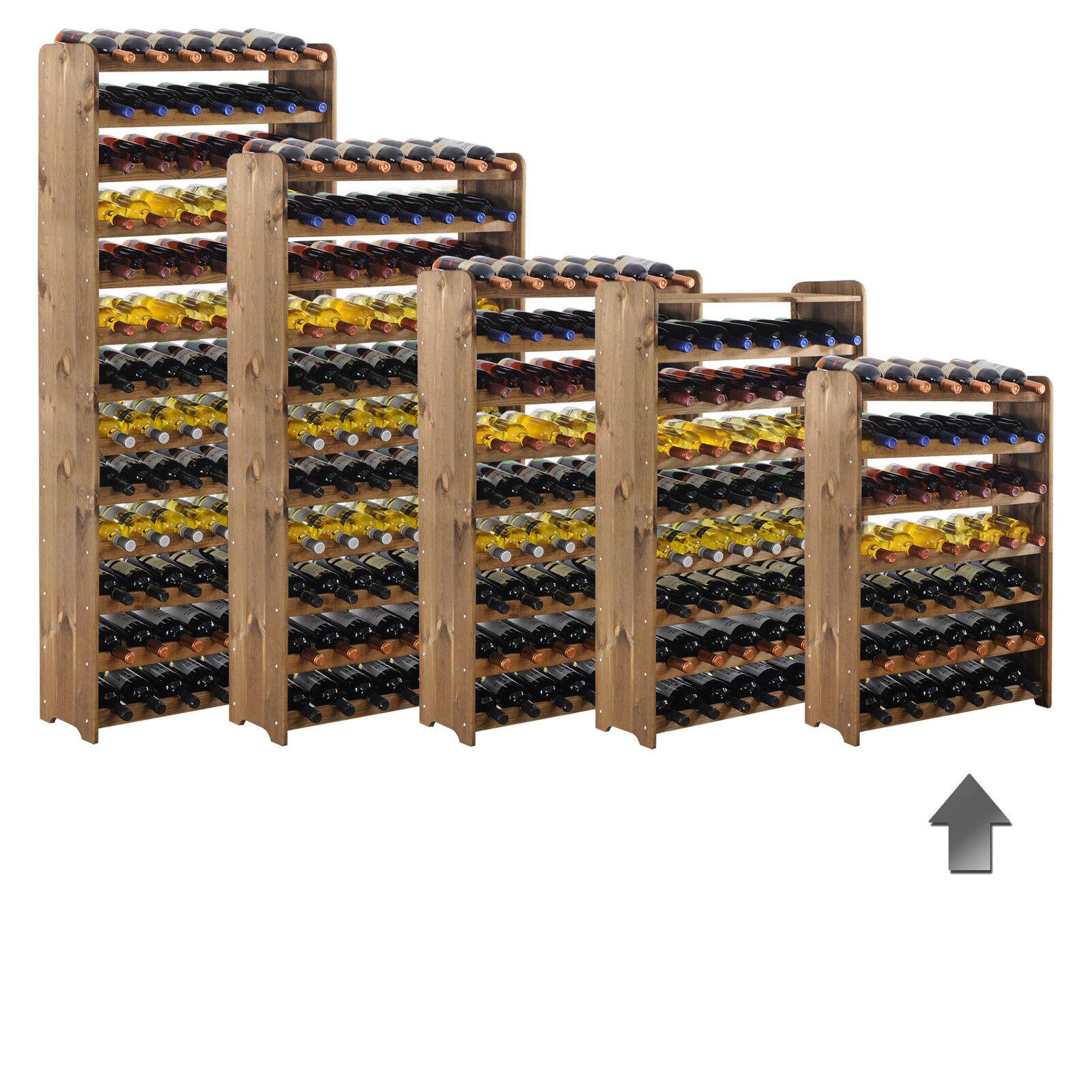 Weinregal   Flaschenregal System   Optiplus   Holz, Kiefer braun gebeizt