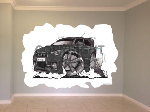 Huge Koolart Cartoon Audi A1 Wall Sticker Poster Mural 3147