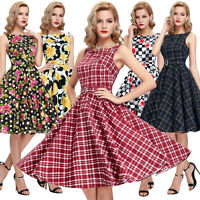CHEAP>> Womens VINTAGE 40'S 50'S SWING Pinup Evening Party Dress S-XL