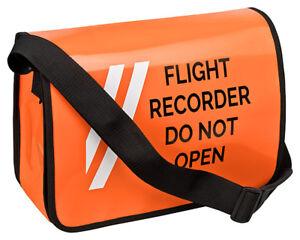 Umhaengetasche-Schultertasche-Flight-Recorder-Do-Not-Open-B-WARE