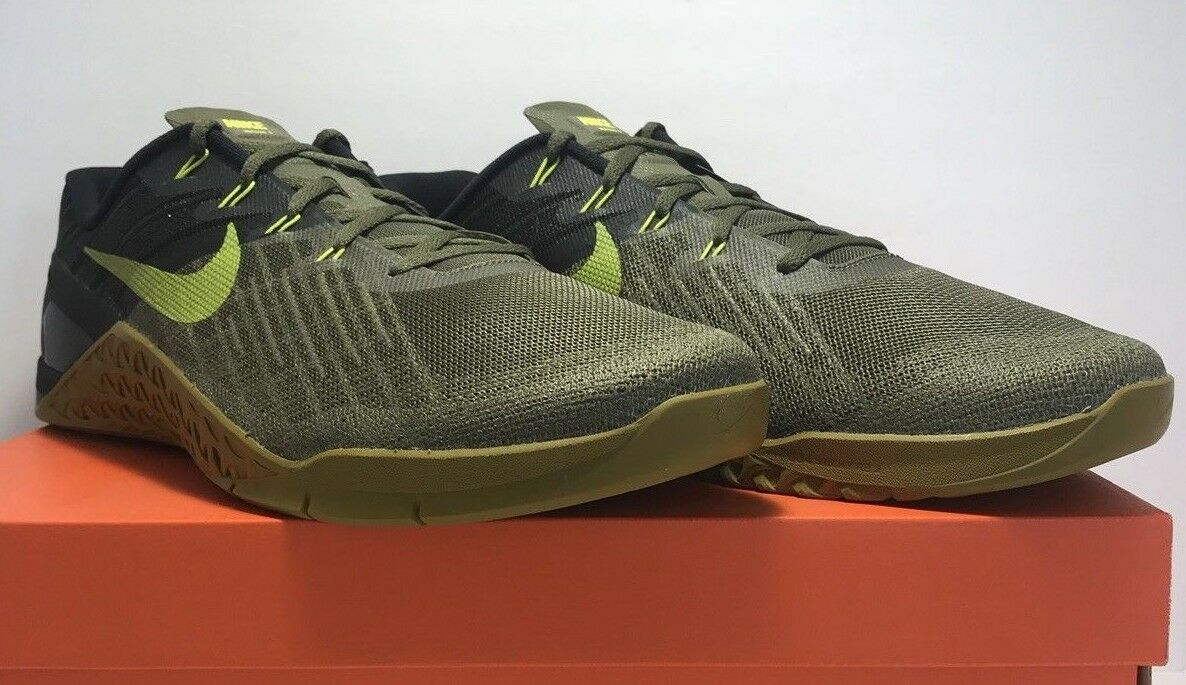 Nike Metcon 3 Mens Size 15 Medium Olive Cactus Training Running shoes Sneakers