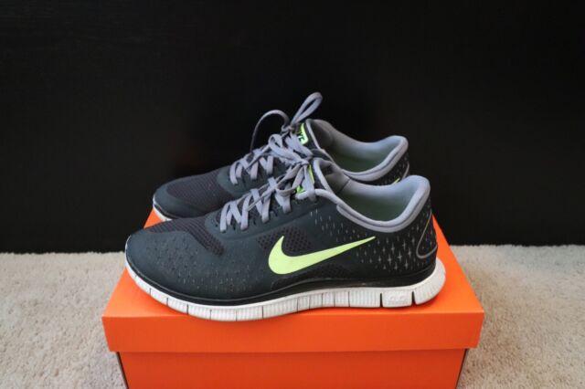 online retailer b1ab3 8271e Men's Nike Free 4.0 V2 Running Shoes #511472 Size 10 Black Grey Volt