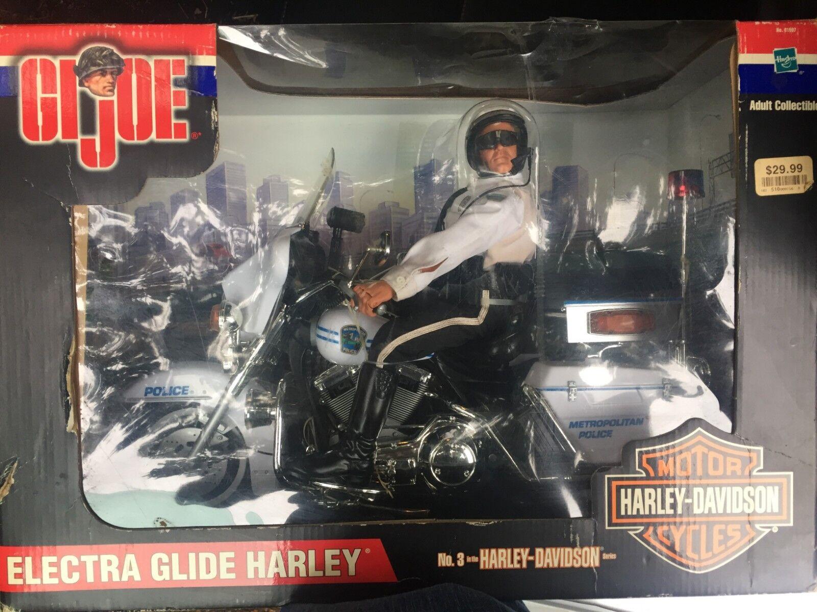GI JOE Electra Glide Harley No. 3 3 3 Harley Davidson Metropolitan Police NEW ee9b7d
