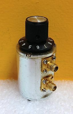 Texscan MA-50  DC to 18 GHz, 50 ohm, 0 to 10 dB, SMA(F) Rotary Step Attenuator.