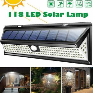 118-LED-Solar-Power-Light-PIR-Motion-Sensor-Wall-Lamp-Outdoor-Garden-Waterproof