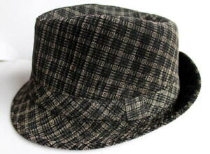 Brand-New-Unisex-Fedora-Trilby-Hat-Cottan-Polyester-Blend-Black-and-Brown