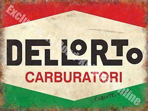 Dellorto Carburetor, 157 Vintage Garage Italian Car Parts, Large Metal Tin Sign