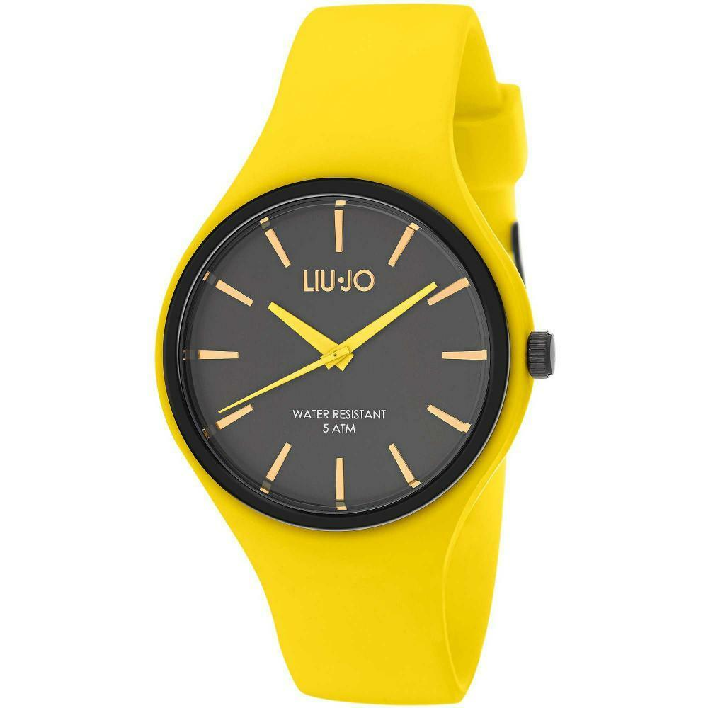 Reloj de Hombre LIU JO Luxury SPRINT TLJ1153 Silicona Amarillo Negro NUEVO