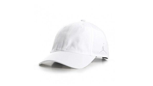 2962e7ffba14a6 Nike Air Jordan Jumpman Strapback Hat White Cap Adult Mens 857061 ...