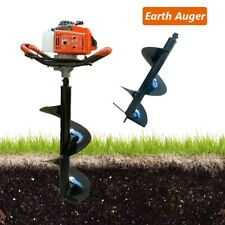 Gas Powered Post Hole Digger 63cc 3hp Earth Auger Machine With 118 Drill Bit