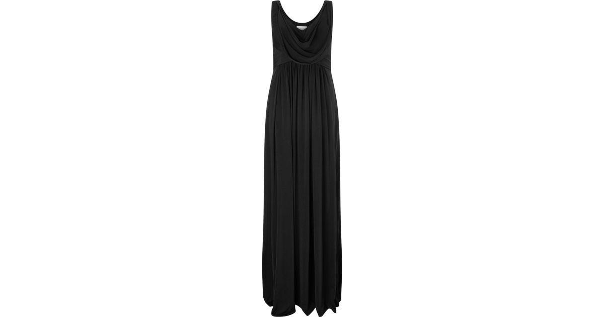 JOHN LEWIS - BNWT - Kerina Long Maxi Maxi Maxi Dress schwarz - Größe 8 ebada1