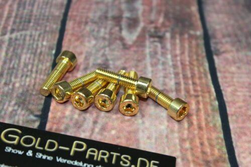Zylinderschraube mit Innensechskant M8x16 GOLD vergoldet M8 Schraube 24-Karat