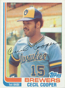 Cecil Cooper 1982 Topps #675 Milwaukee Brewers Baseball Card   ex to exmt