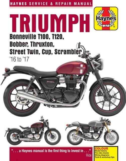 Haynes Motorrad Reparaturhandbuch Triumph Bonneville T100 T120