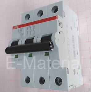 sicherungsautomat 16a 3 polig abb s203 b16 sicherung ls schalter neu ebay. Black Bedroom Furniture Sets. Home Design Ideas