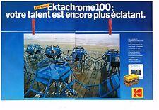 Publicité Advertising 1985 (2 pages) Film Diapositive Ektachrome Kodak