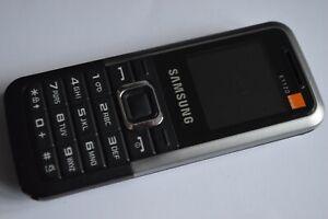 Samsung GT e1120-Schwarz Silber (entsperrt) Handy (guter Zustand)