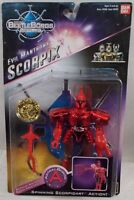 Beetleborgs Astral Borgs - Evil Mantrons Scorpix Spinning Action By Bandai (moc)