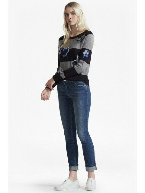LOOK rigido French Connection Jeans Attillati Taglia TD094 TD094 TD094 BB 23 c41bce