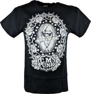 CM-Punk-Straight-Edge-Society-SES-Mens-Black-T-shirt