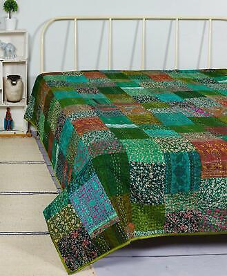 comforter,coverlets,kantha blanket Handmade Vintage kantha quilt,Indian Vintage kantha throw,Recycle fabric boho kantha quilt,bedding