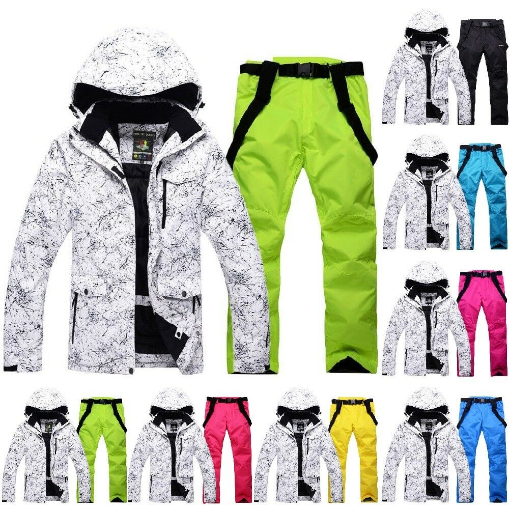 Ski Suit Set Jacket and Pants Waterproof Thick Winter Sport Clothes Warm Suits
