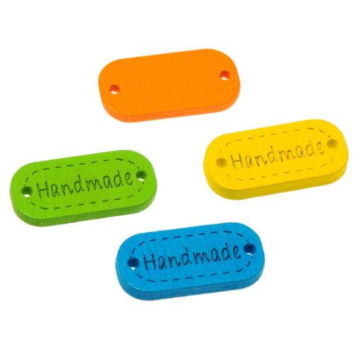 FREE 50//100 PCs Craft Mixed Handmade Wooden Buttons Sewing Scrapbook 24x12mm