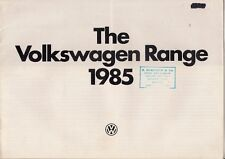 Volkswagen 1985 UK Market Sales Brochure Polo Golf Jetta Passat Scirocco