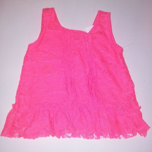 Limited Too Toddler Outfit 2 Piece Set Pink Lace Tank Top Denim Shorts