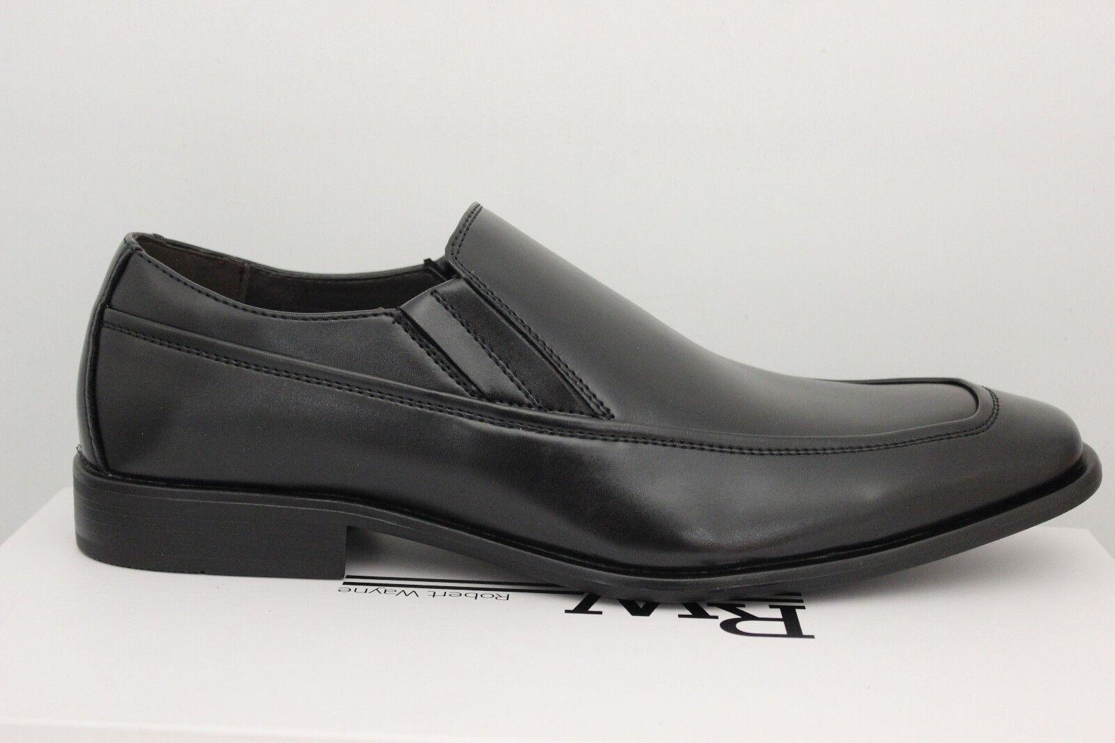 Homme Robert Wayne Frouge à Enfiler Noir Chaussures Habillées Frouge-001