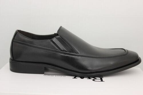 Men/'s Robert Wayne Fred Slip-On Black Dress Shoes Fred-001 Brand New In Box
