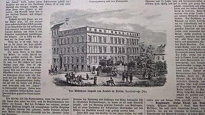 1885 341 / Berlin Luisenstraße Wohnhaus Leopold Von Ranke Lange Lebensdauer
