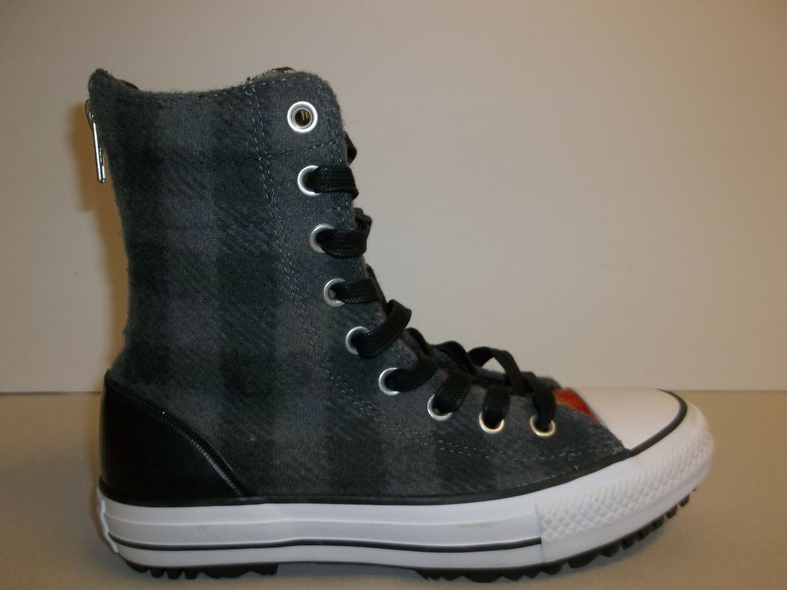 Converse Size 6.5 CT HI-RISE BOOT Gray Wool Woolrich Boots New Womens Shoes