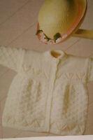 Baby's Matinee Coat Knitting Pattern