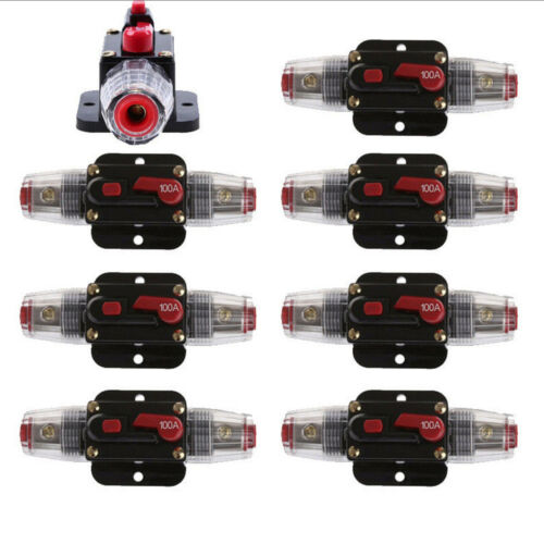 12V DC 20A-100A AMP Car Audio Solar Energy Inline Circuit Breaker Fuse Holder SM