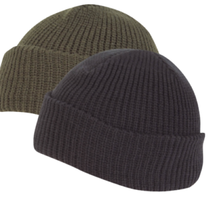 Knitted-Hat-Watch-Cap-Thermal-Acrylic-Winter-Military-Warm-Beanie-Green-Black