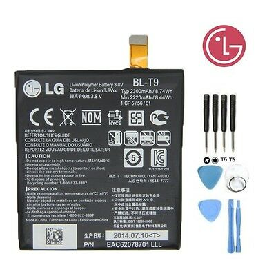 New Genuine OEM Google Nexus 5 D820 D821 2300mAh Battery BL-T9 3.8V 8.74Wh