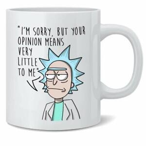 Rick-Morty-il-tuo-piccolo-grande-Opinion-Means-regalo-Stagione-1-Tazza-Da-Caffe-Te-11Oz