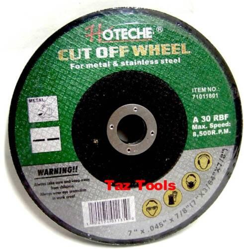 "30 pcs Cut Off Wheel Stainless Steel 7/"" X 3//64/"" X 7//8/"" Metal Disc Saw Blade"