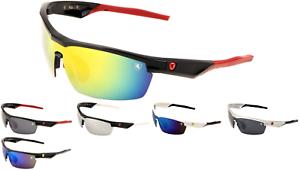 Khan Mens Cycling Biker Triathlon Mens Wrap Around Sports mirror Lens Sunglasses